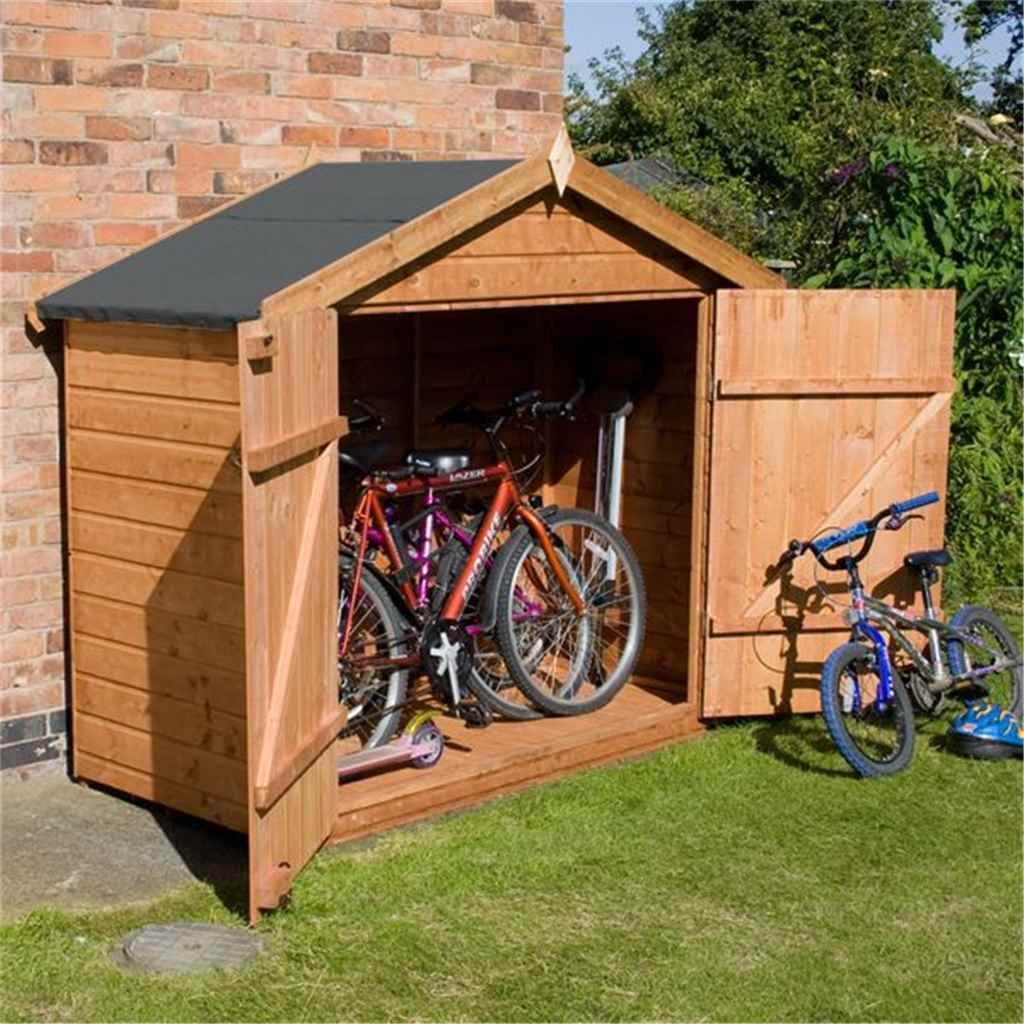 Bike Store 7ft x 3ft Premier Tongue and Groove (10mm Solid OSB Floor)