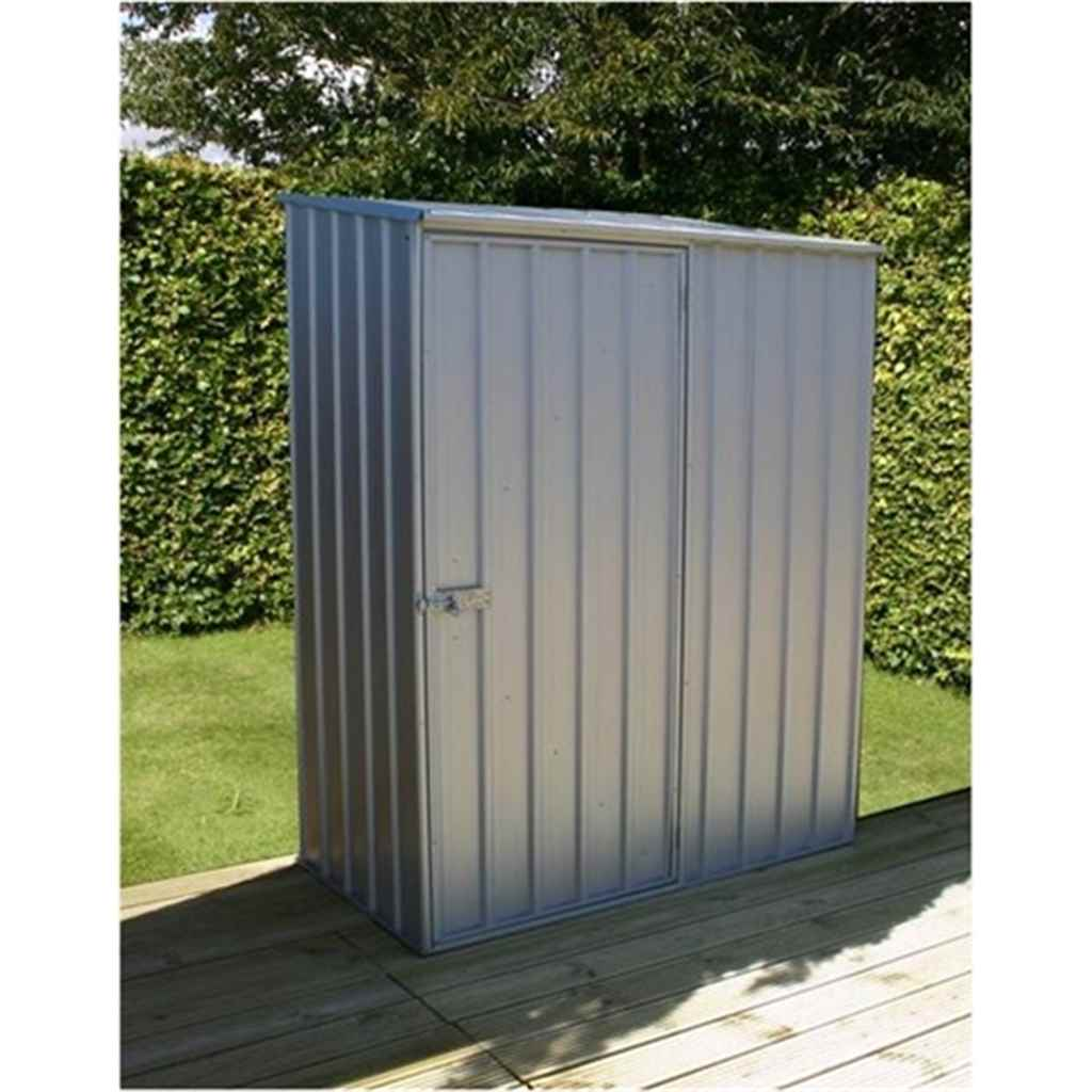 **PRE ORDER DUE BACK IN STOCK FEB 2015 ** 5ft x 3ft Space Saver Zinc Metal Shed (1.52m x 0.78m) *FREE 48HR DELIVERY
