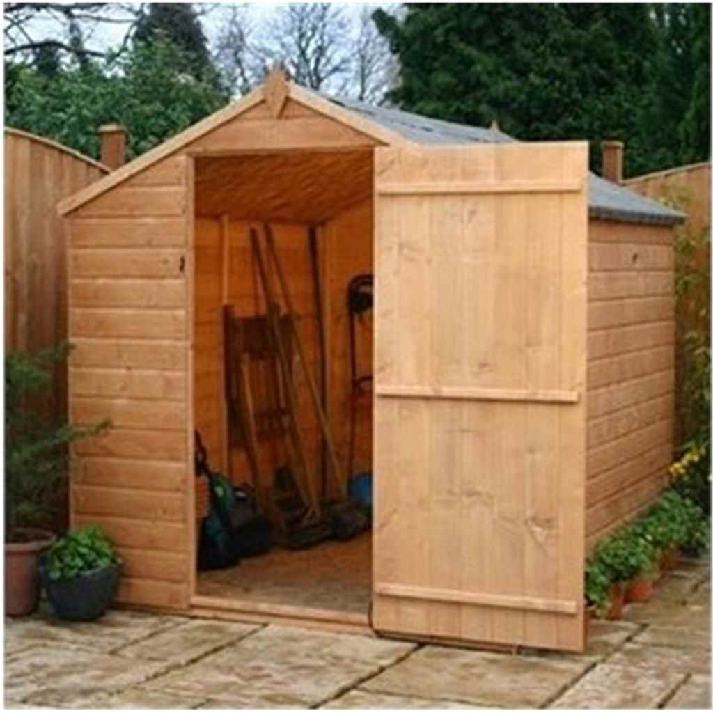 8ft x 6ft Tongue and Groove Apex Windowless Shed With Single Door (Solid 10mm OSB Floor)