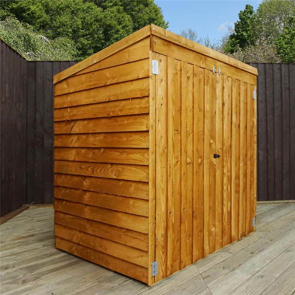 "4ft 8"" x 3ft Overlap Pent Mower Shed (10mm Solid OSB Floor)"
