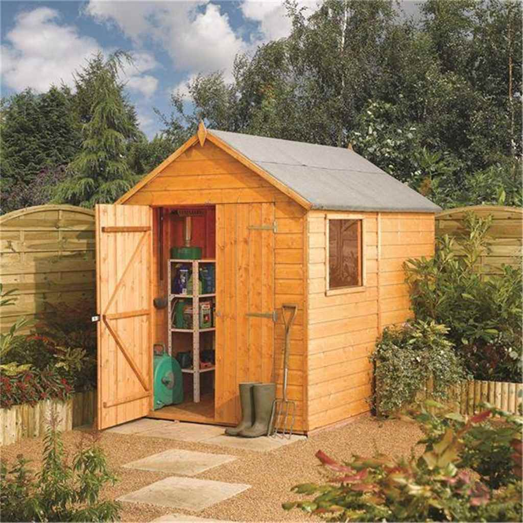 8ft x 6ft Modular Tongue and Groove Shed  (11mm Solid OSB Floor)