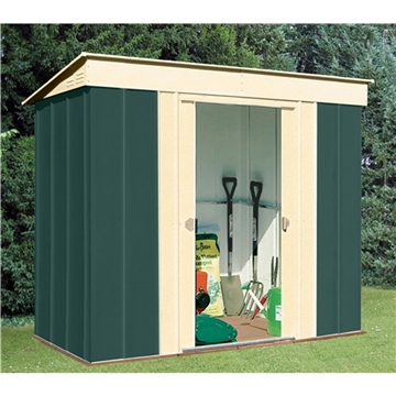 8ft x 4ft Select Pent Metal Shed (2.46m x 1.23m)