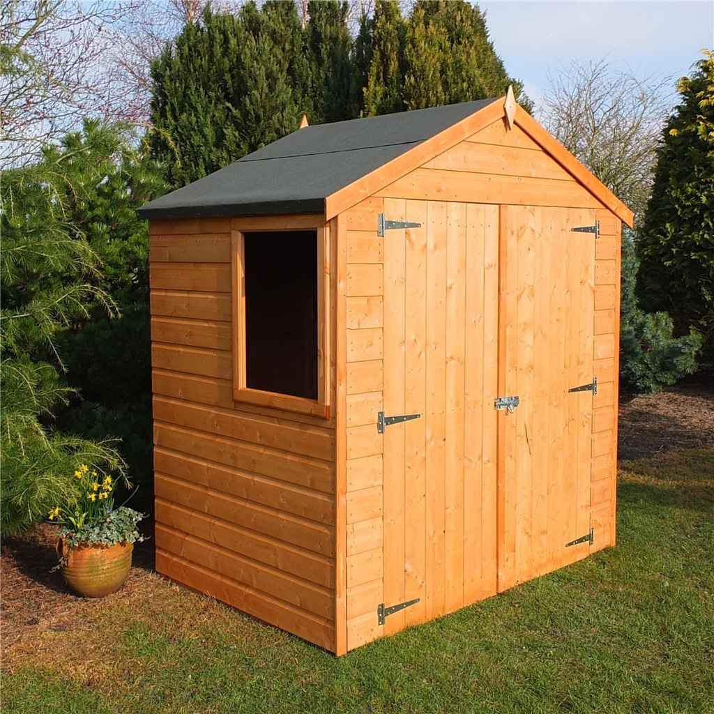4ft x 6ft Tongue and Groove Apex Garden Shed / Workshop (10mm Solid OSB Floor)