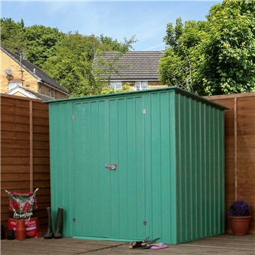 6ft x 4ft Value Pent Metal Shed (2.04m x 1.31m)  *FREE 48HR DELIVERY + Free Anchor Kit
