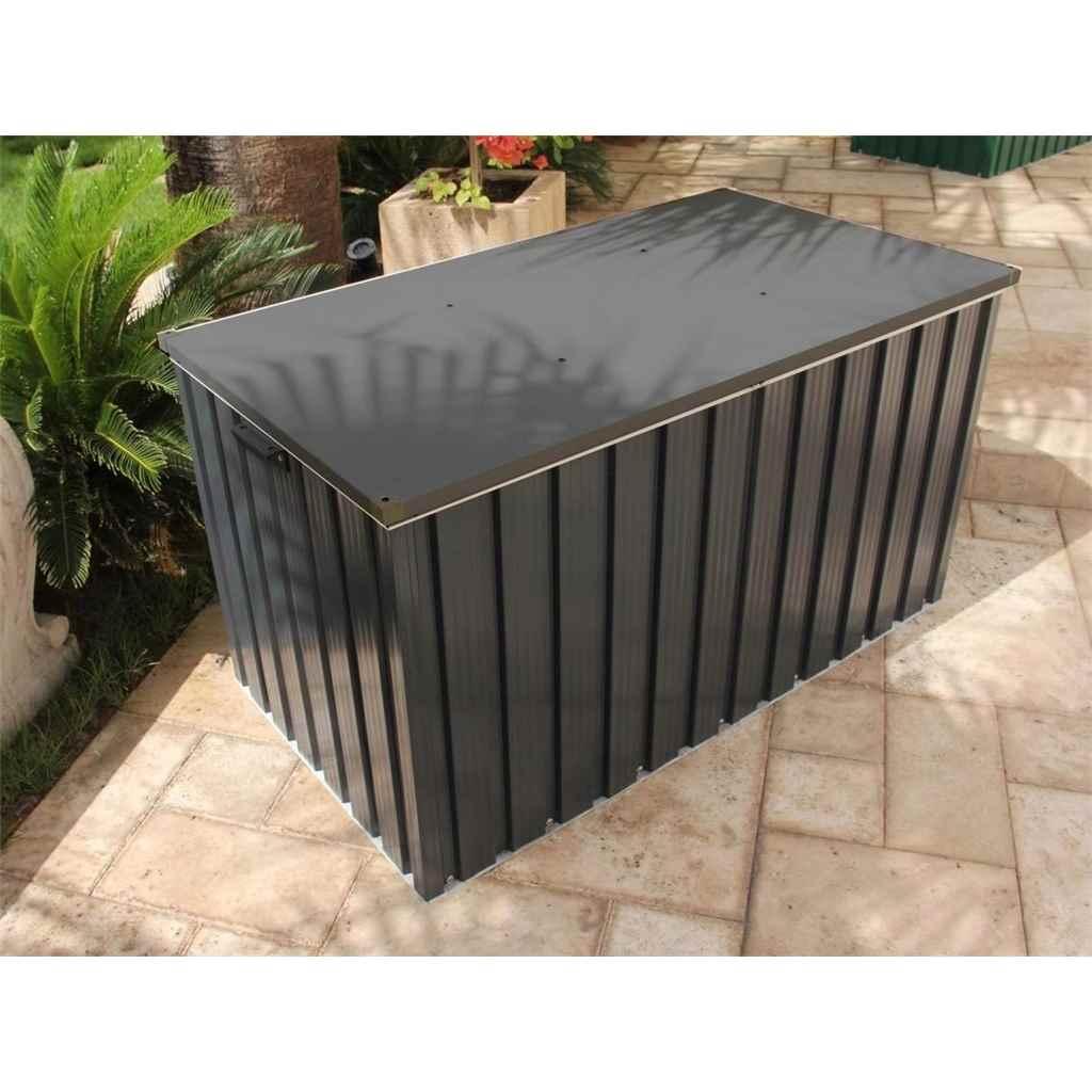4ft x 2ft Select Grey Metal Storage Box (1.28m x 0.68m)