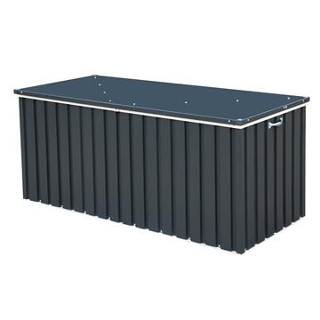 6ft x 2ft Select Grey Metal Storage Box (1.68m x 0.68m)