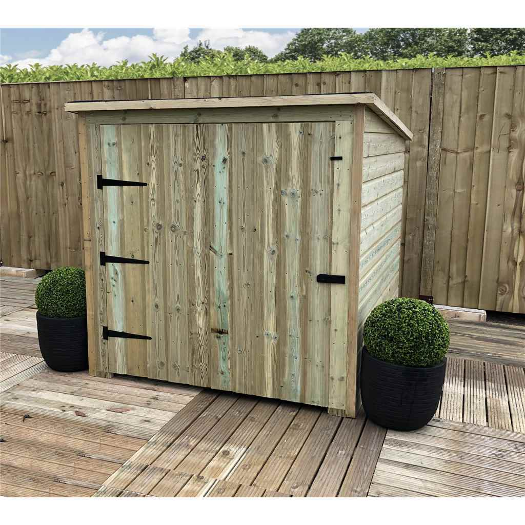 6FT x 4FT Pressure Treated Tongue And Groove Mobility Scooter Store With Single Door  (No Floor)