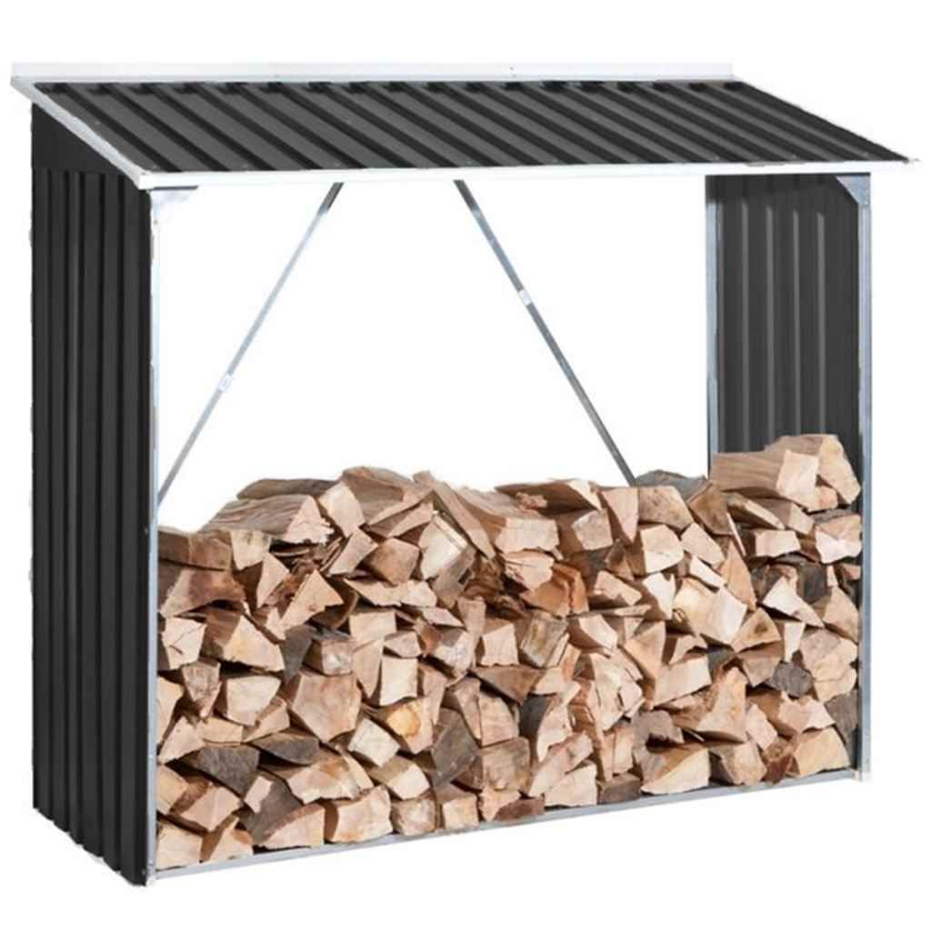 6ft x 2ft Select Anthracite Metal Woodstore (1.66m x 0.62m)