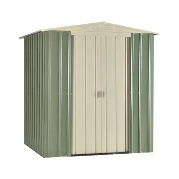 6ft x 5ft Premier EasyFix Mist Green Apex Shed (1.71m x 1.44m)