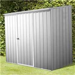 **PRE ORDER - BACK IN STOCK END OF OCTOBER** 8 x 5 Space Saver Zinc Metal Shed (2.26m x 1.52m) *FREE 48HR DELIVERY