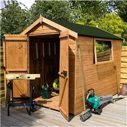 6 x 6 Premier Tongue and Groove Apex Shed (12mm Tongue and Groove Floor and Roof)