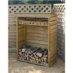 "3'7"" x 1'8"" Small Log Store"