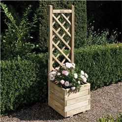 Square Planter and Lattice