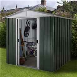 "6'1"" x 4'1"" Apex Metal Shed With Free Anchor Kit (1.86m x 1.25m)"