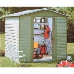 "7'5"" x 6'1"" Shiplap Apex Metal Shed + Free Anchor Kit (1.86m x 2.26m)"
