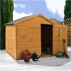 6 x 8 Windowless Tongue And Groove Reverse Apex Shed (10mm Solid Osb Floor)**Extended Delivery Typically 14 Working Days As Treated As Special- Please See Product Page For More Info
