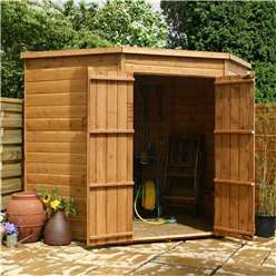 7ft x 7ft Windowless Budget Tongue And Groove Corner Shed With Double Doors **Extended Delivery Typically 14 Working Days As Treated As Special- Please See Product Page For More Info