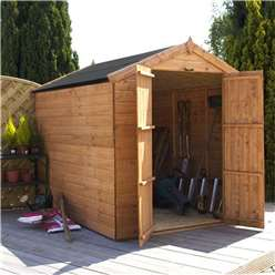 8ft x 6ft Windowless Tongue and Groove Apex Shed With Double Doors (solid 10mm Osb Floor) )**Extended Delivery Typically 14 Working Days As Treated As Special- Please See Product Page For More Info