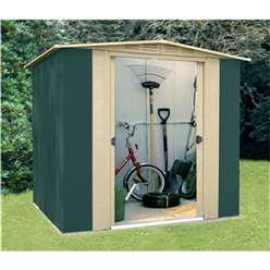 6ft x 6ft Select Six Metal Shed (1.83m x 1.85m)