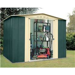 **PRE ORDER - DUE BACK IN STOCK 2ND NOVEMBER** 8 x 9 Select Eight Metal Shed (2.45m x 2.78m)
