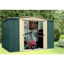 **PRE ORDER - DUE BACK IN STOCK 2ND NOVEMBER** 10 x 9 Select Ten Metal Shed (3.07m x 2.78m)