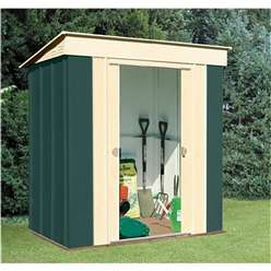 6ft x 4ft Select Pent Metal Shed (1.84m x 1.23m)