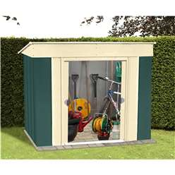 **PRE ORDER - DUE BACK IN STOCK 2 NOVEMBER**6 x 4 Select Low Pent Metal Shed (1.84m x 1.23m)