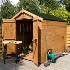 8 x 6 Windowless Premier Tongue and Groove Apex Shed (12mm Tongue and Groove Floor and Roof)***Extended Delivery Typically 14 Working Days As Treated As Special