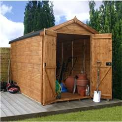 10 x 6 Windowless Premier Tongue and Groove Apex Shed (12mm Tongue and Groove Floor and Roof) ***Extended Delivery Typically 14 Working Days As Treated As Special