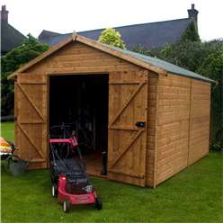 12ft x 8ft Windowless Deluxe Workshop (12mm Tongue and Groove Floor and Roof) ***Extended Delivery Typically 14 Working Days As Treated As Special
