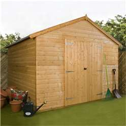 10ft x 10ft Windowless Deluxe Tongue and Groove Workshop (12mm Tongue and Groove Floor and Roof) ***Extended Delivery Typically 14 Working Days As Treated As Special