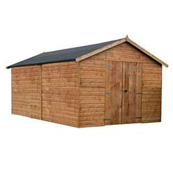 16ft x 10ft Windowless Deluxe Tongue and Groove Workshop (12mm Tongue and Groove Floor and Roof) ***Extended Delivery Typically 14 Working Days As Treated As Special