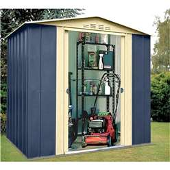 6ft x 5ft Select Blue Metal Shed (1.83m x 1.54m)