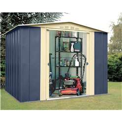8ft x 6ft Select Blue Metal Shed (2.45m x 1.85m)