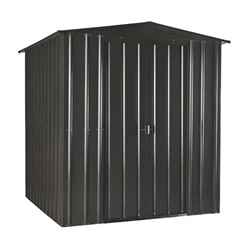 6ft x 6ft Select Anthracite Metal Shed (2.01m x 1.82m)