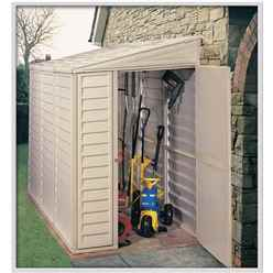 4 x 8 Select Duramax Plastic Sidemate PVC Shed With Steel Frame (1.21m x 2.39m)