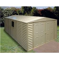 10 x 21 Select Duramax Plastic PVC Garage With Steel Frame (3.22m x 6.38m)