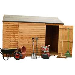 6 x 10 Windowless Reverse Overlap Apex Shed With Single Door (10mm Solid Osb Floor) ***Extended Delivery Typically 14 Working Days As Treated As Special- Please See Product Page For More Info