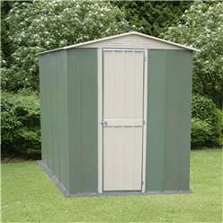 Select Hinged Door Metal Shed 6ft x 4ft (1.83m x 1.23m)