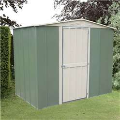 Select Hinged Door Metal Shed 8ft x 6ft (2.45m x 1.85m)