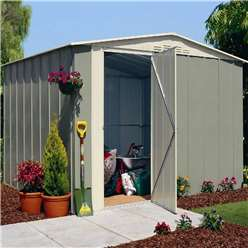 Select Hinged Door Metal Shed 10ft x 8ft (3.07m x 2.47m)