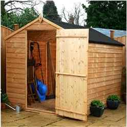8 x 6 Buckingham Overlap Apex Shed Windowless With Single Door (solid 10mm OSB Floor)