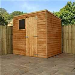 7 x 5 Cambridge Overlap Pent Shed With Single Door + 1 Window (10mm Solid OSB Floor)