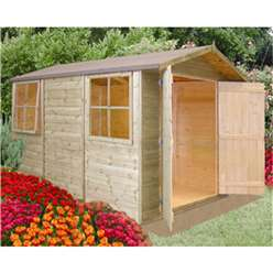 10ft x 7ft Tongue and Groove Apex Wooden Garden Shed / Workshop (12mm Tongue and Groove Floor)