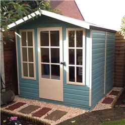 7 x 7 Summerhouse + Fully Glazed Single Door (12mm Tongue and Groove Floor and Roof)