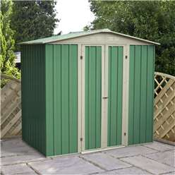 6 x 4 Value Apex Metal Shed (2.04m x 1.31m)  *FREE 48HR DELIVERY + Free Anchor Kit