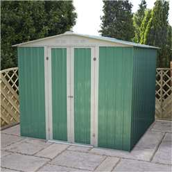 8ft x 6ft Value Apex Metal Shed (2.42m x 1.83m) *FREE 48HR DELIVERY + Free Anchor Kit