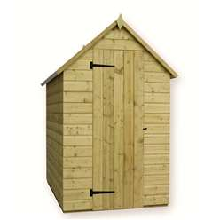 7 x 4 Windowless Pressure Treated Tongue And Groove Apex Shed With Single Door