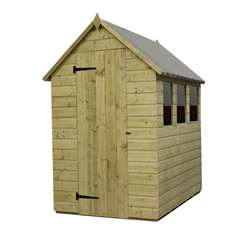 8 x 4 Pressure Treated Tongue And Groove Apex Shed With 3 Windows And Single Door