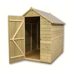 9 x 5 Windowless Pressure Treated Tongue And Groove Apex Shed With Single Door